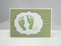 Karte zur Geburt Wunder geschehen grün