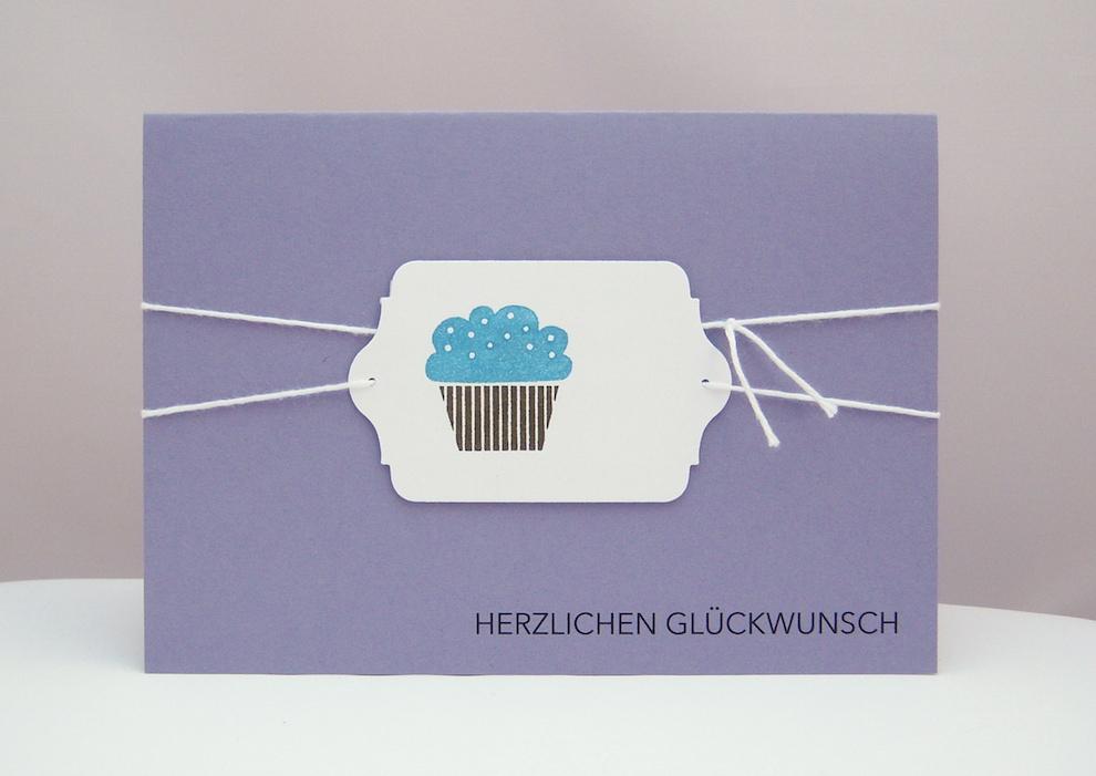 Geburtstag - Karte zum Geburtstag Cupcake_1