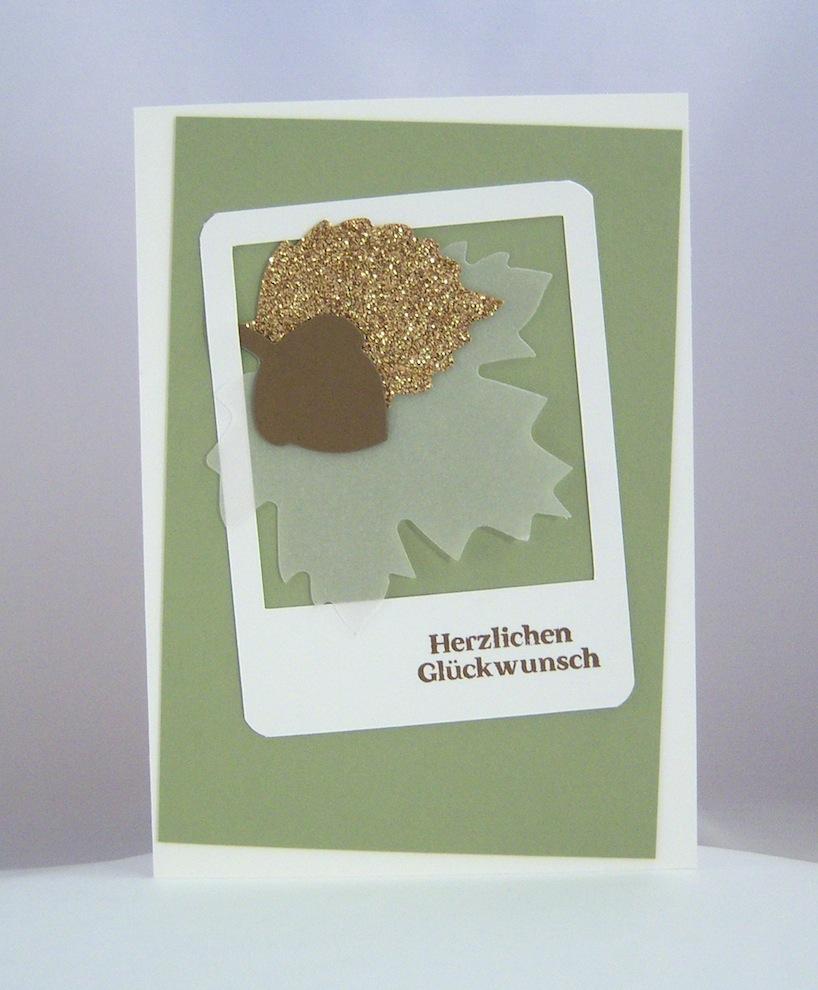 Geburtstag - Karte zum Geburtstag Herbstlaub