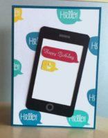 Karte zum Geburtstag Smartphone