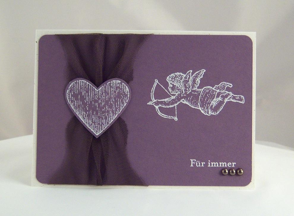 Karte zum Valentinstag Amor Fuer Immer