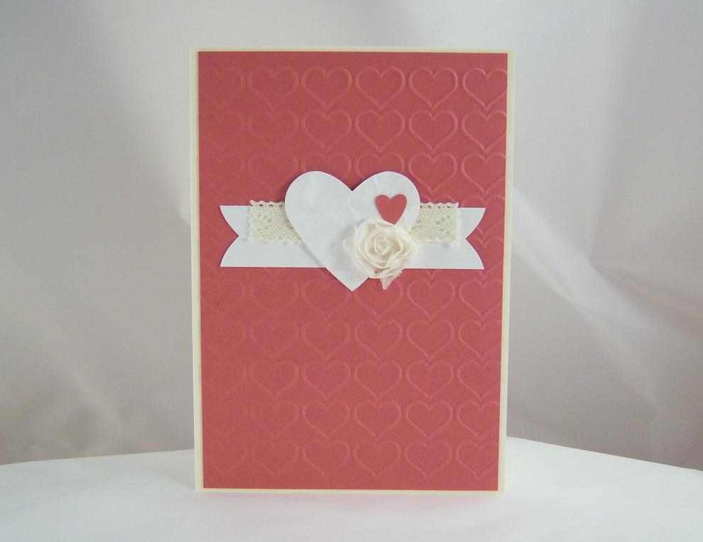 Valentinstag - Karte zum Valentinstag Herzen 1