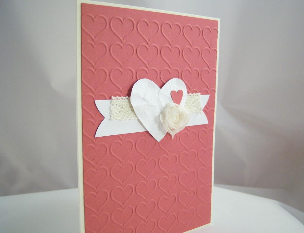 Karte zum Valentinstag Herzen 2