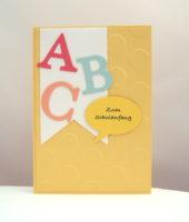 Karte zur Einschulung ABC