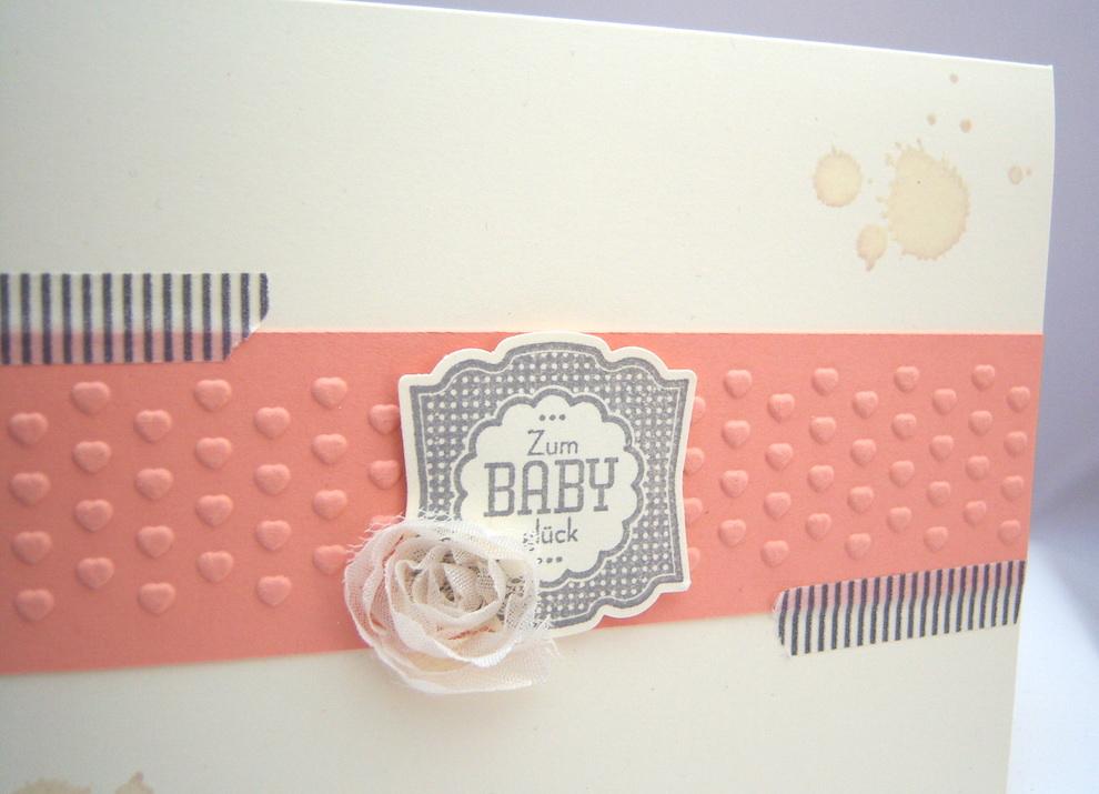 Karte zur Geburt Baby-Glück neu 2
