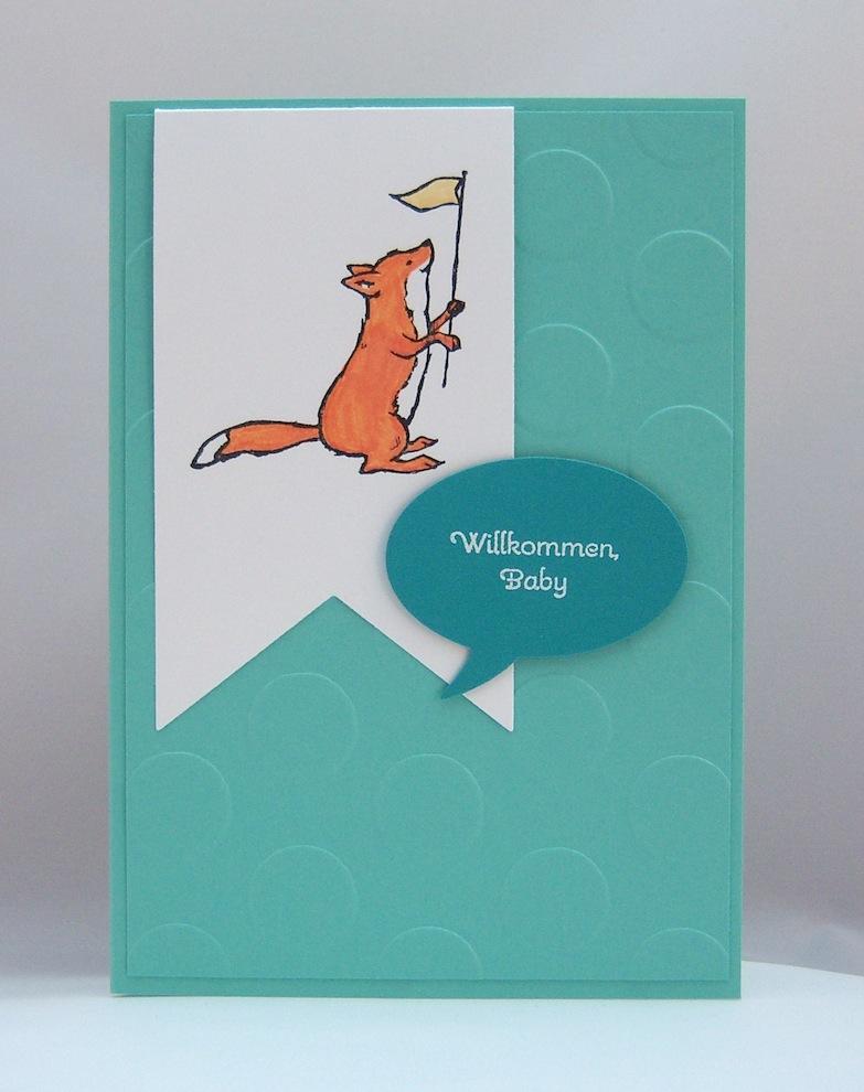 Geburt / Taufe - Karte zur Geburt Fuchs