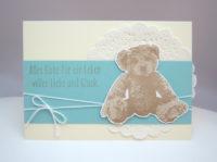 Karte zur Geburt Teddybär 1