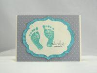 Karte zur Geburt Wunder geschehen Jade
