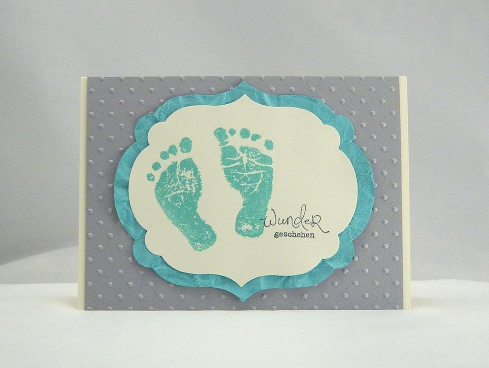 Geburt / Taufe - Karte zur Geburt Wunder geschehen Jade