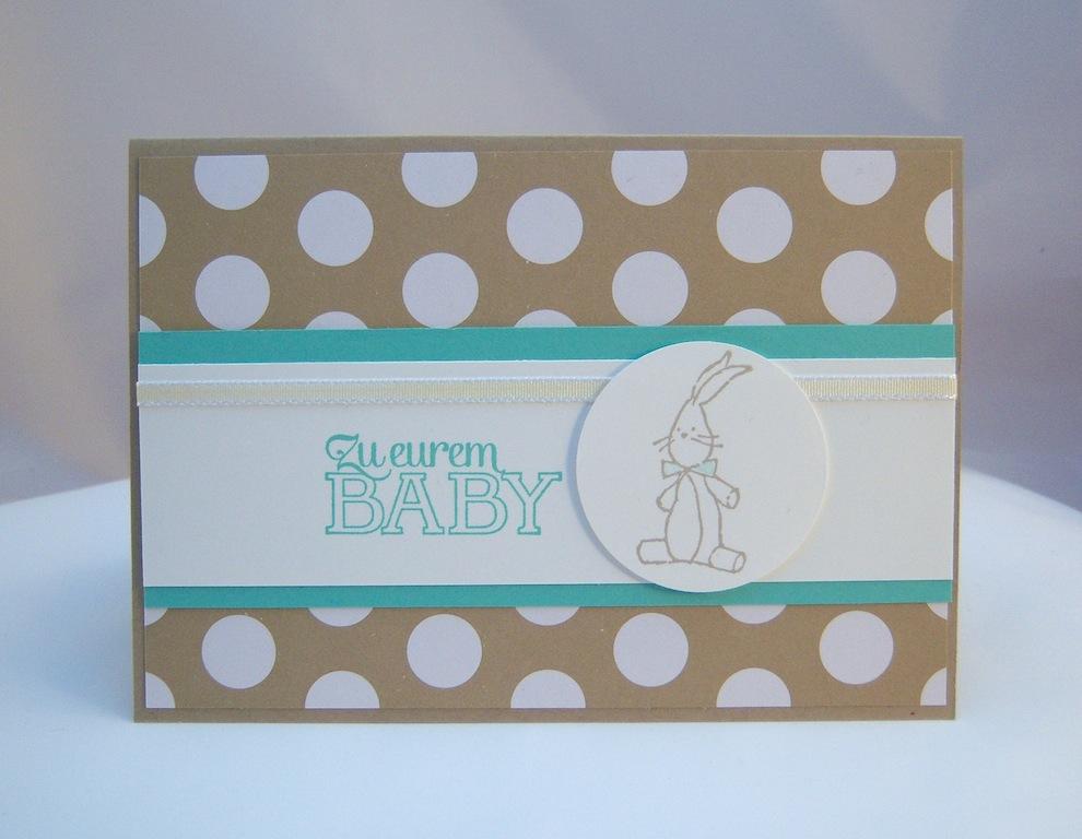 Karte zur Geburt Zu eurem Baby Hase