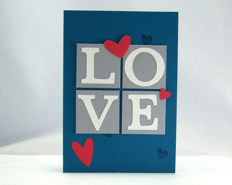 Hochzeit - Karte zur Hochzeit Bausteine Love