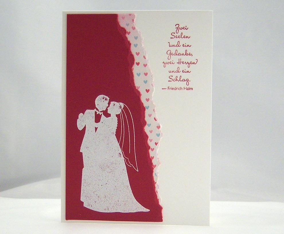 Hochzeit - Karte zur Hochzeit Brautpaar zwei Seelen
