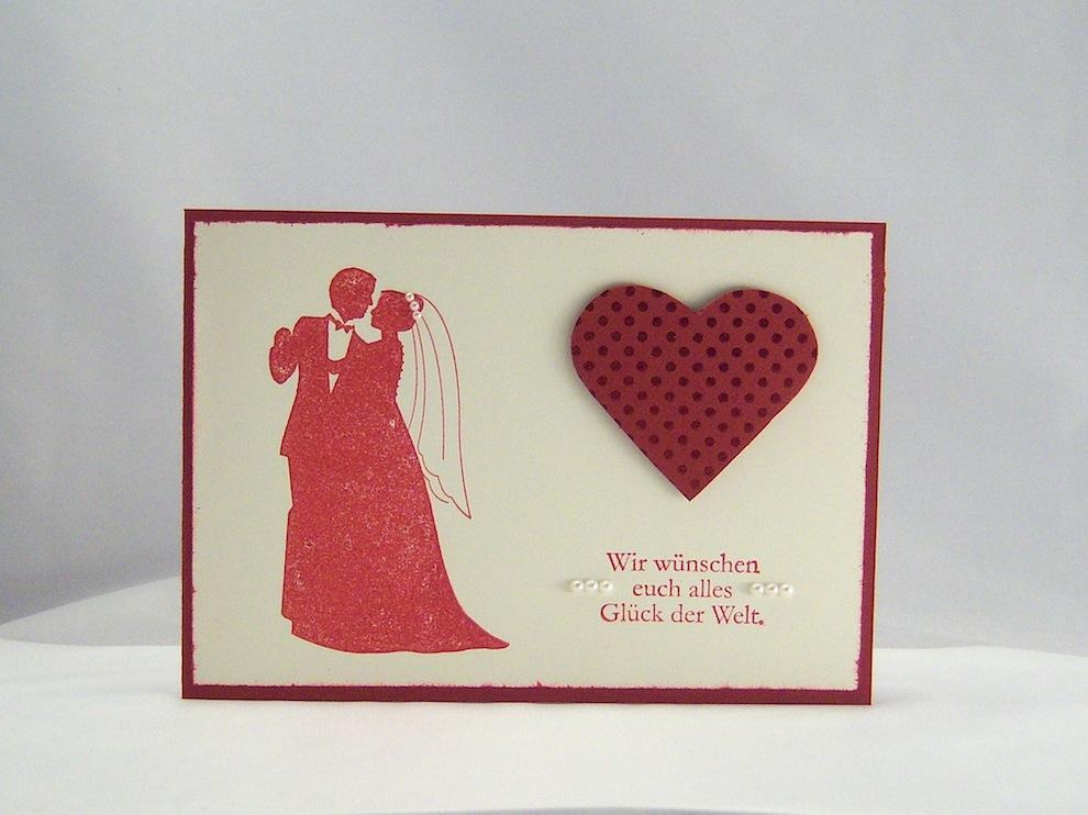 Hochzeit - Karte zur Hochzeit Herz Hochzeitspaar