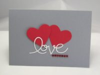 Karte zur Hochzeit Herzen Love