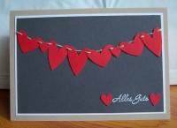 Karte zur Hochzeit Herzen Wäscheleine Alles Gute 1