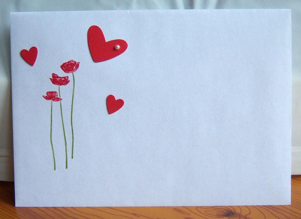Karte zur Hochzeit Herzen Wäscheleine Alles Gute 3
