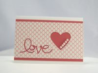Karte zur Hochzeit Love Herz mit Perlen 1