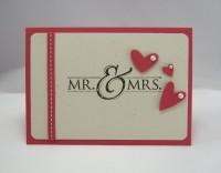 Karte zur Hochzeit Mr & Mrs 1