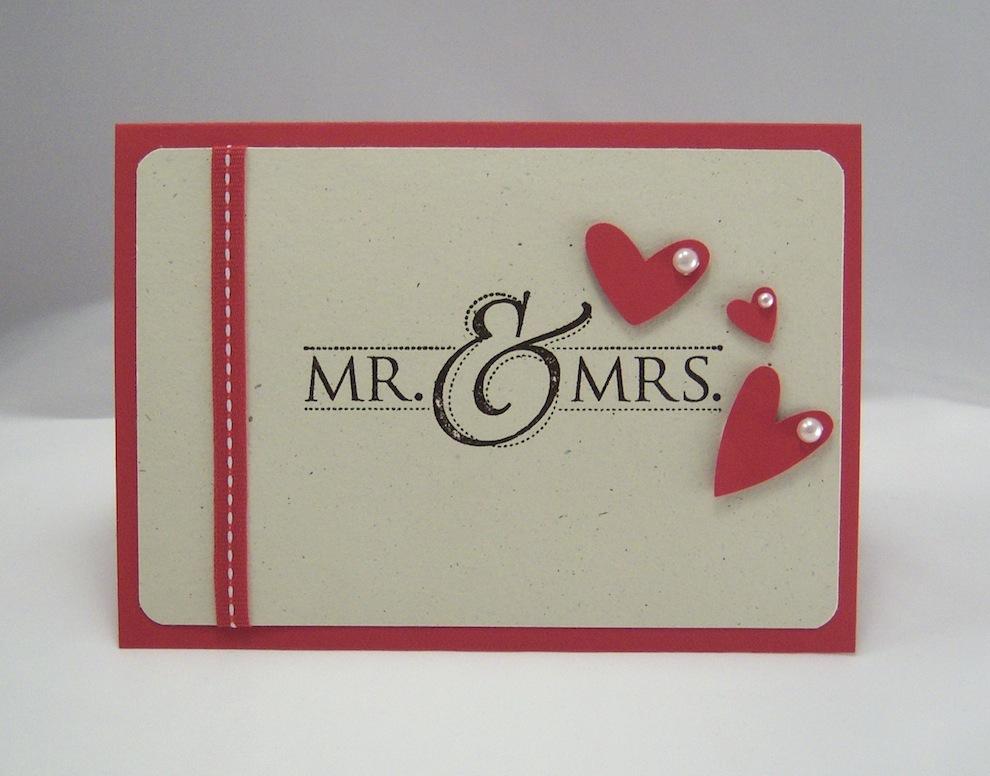 Hochzeit - Karte zur Hochzeit Mr & Mrs 1