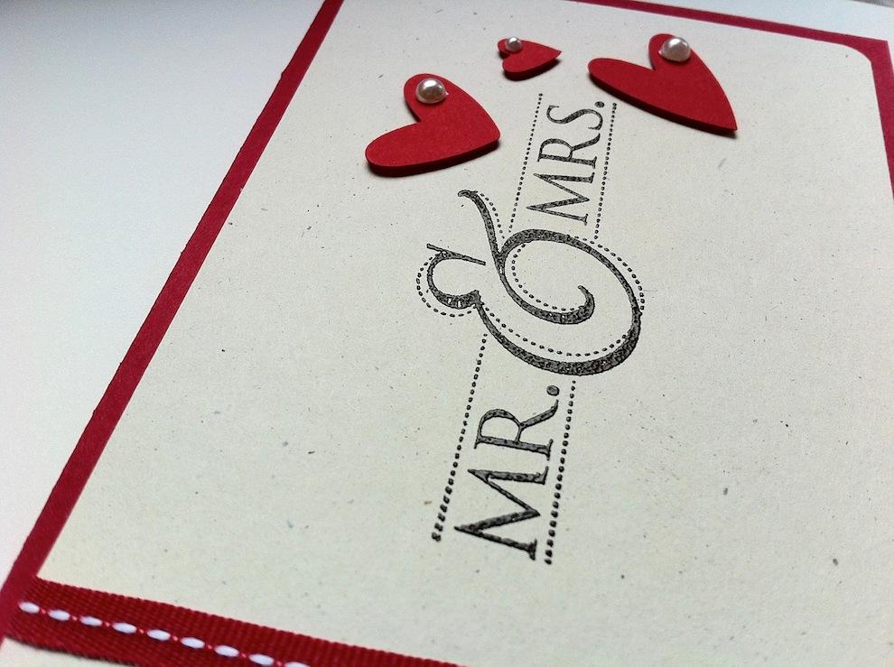 Karte zur Hochzeit Mr & Mrs 2