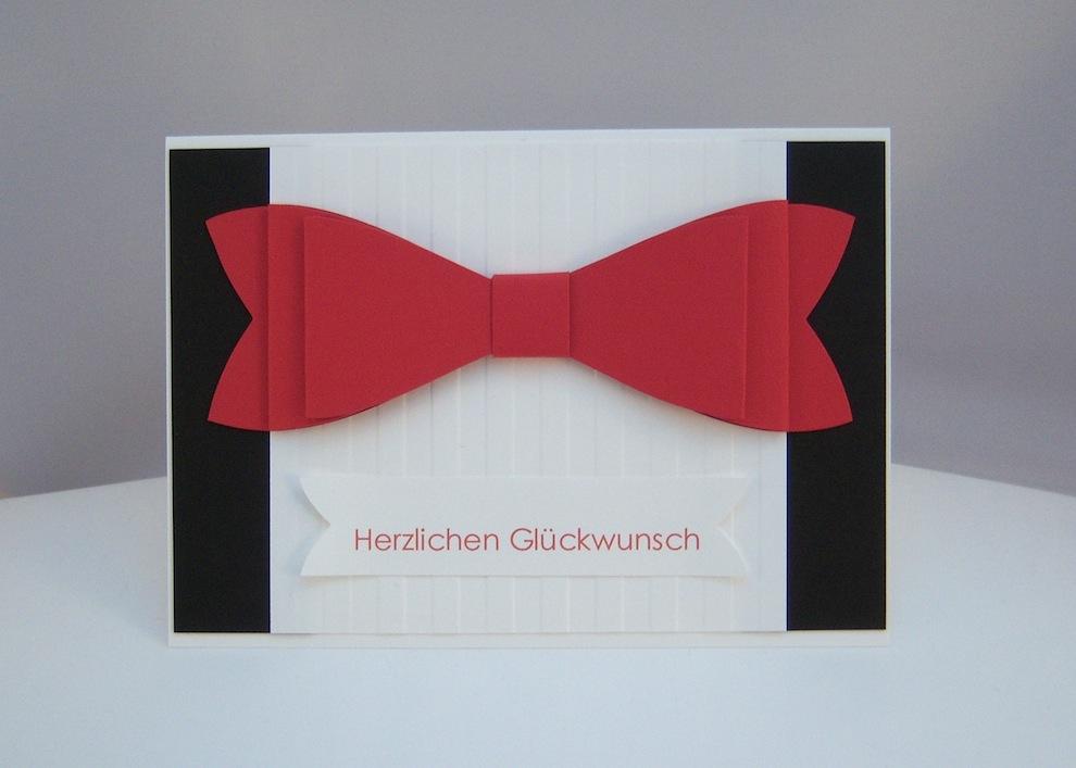 Hochzeit - Karte zur Hochzeit Schleife