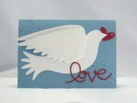 Karte zur Hochzeit Taube Love