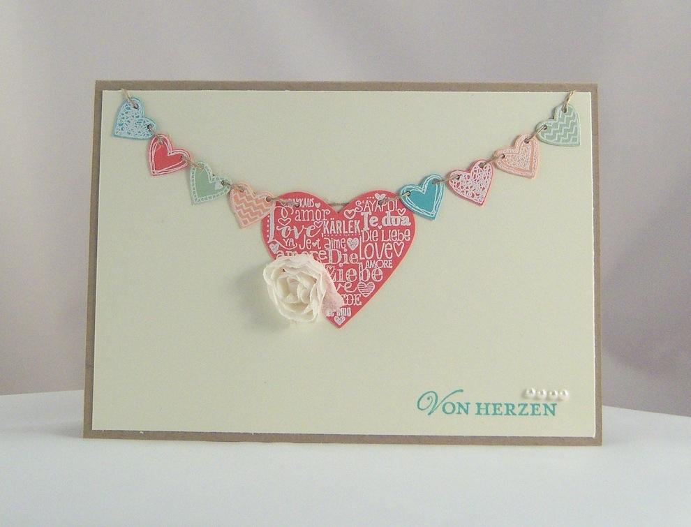 Hochzeit - Karte zur Hochzeit Von Herzen