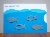 Karte zur Konfirmation/Kommunion Das ist deinTag Fische