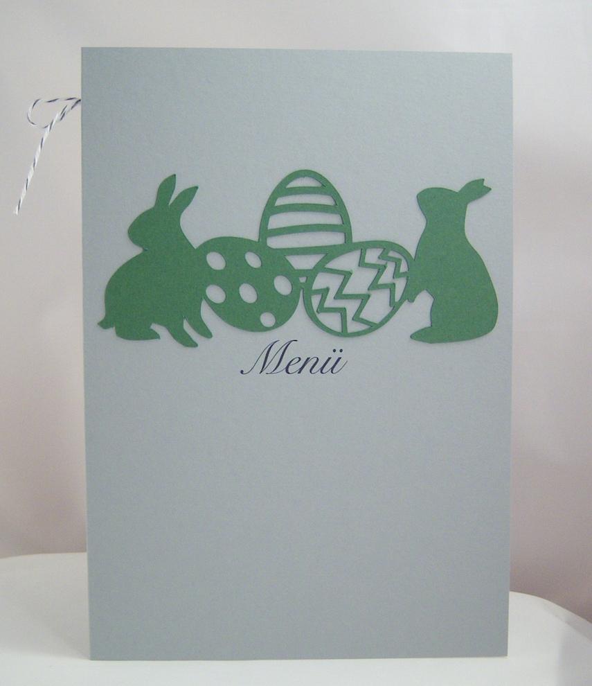 Ostern - Menükarte Hasen+Eier