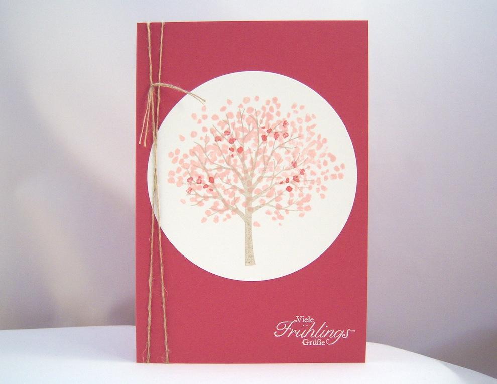 Ostern - Osterkarte Baum Frühling 1