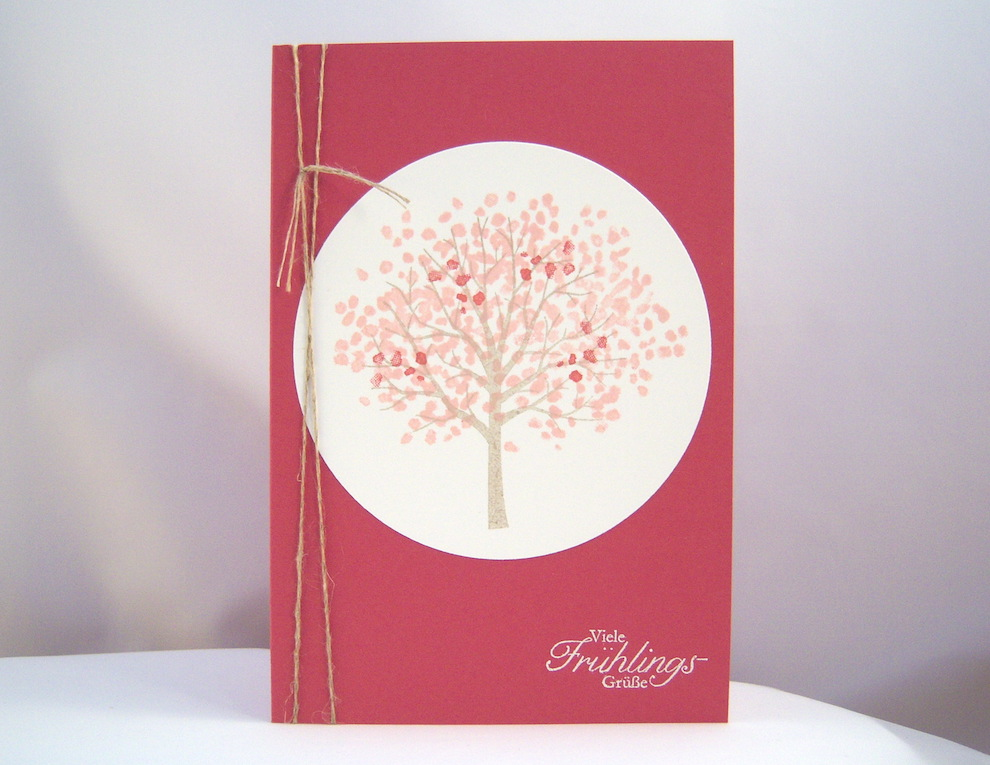 Osterkarte Baum Frühling 1