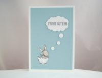 Osterkarte Hase in Gedanken 1