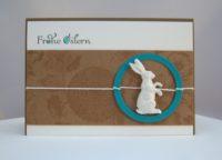 Osterkarte Hase mit Kreis