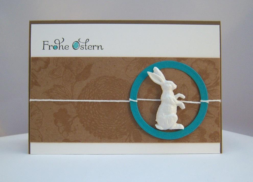 Ostern - Osterkarte Hase mit Kreis
