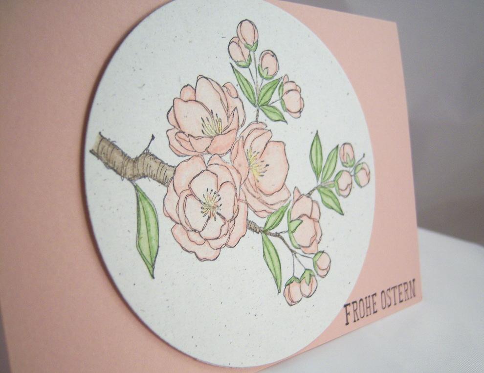 Osterkarte Kirschblüten 1