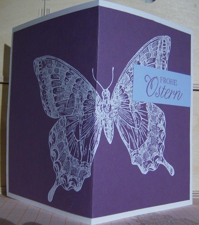 Osterkarte grosser Schmetterling 2