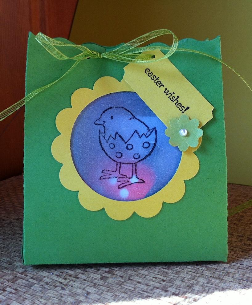 Ostern, Verpackungen - Osterverpackung mit Sichtfenster gruen