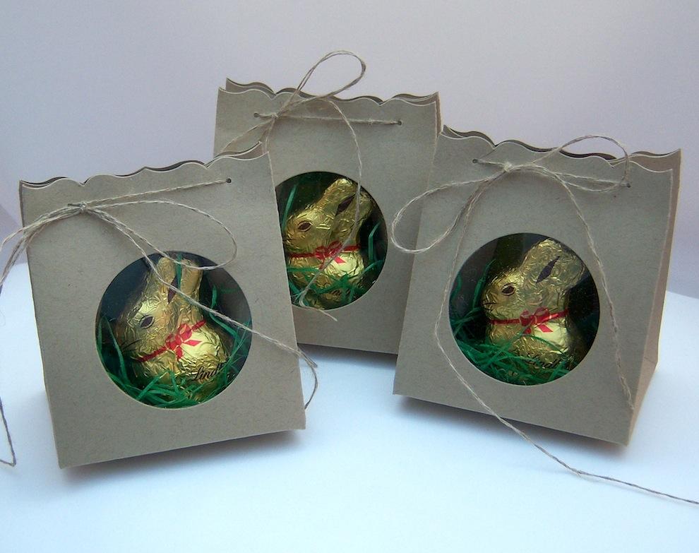 Ostern, Verpackungen - Osterverpackung mit Sichtfenster schlicht