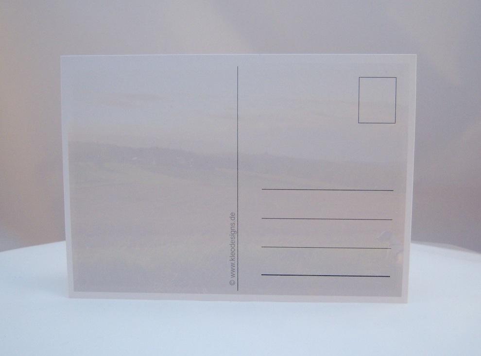 Postkarte Blick auf die Felder 2