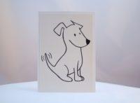 Postkarte frecher Terrier 1