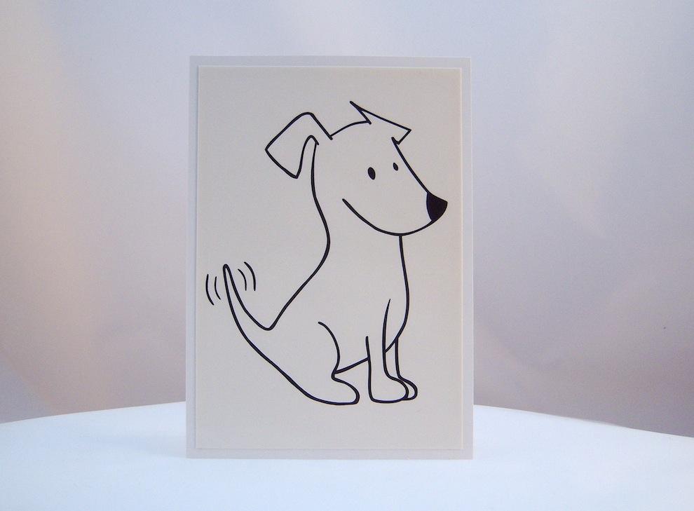 Sonstiges - Postkarte frecher Terrier 1