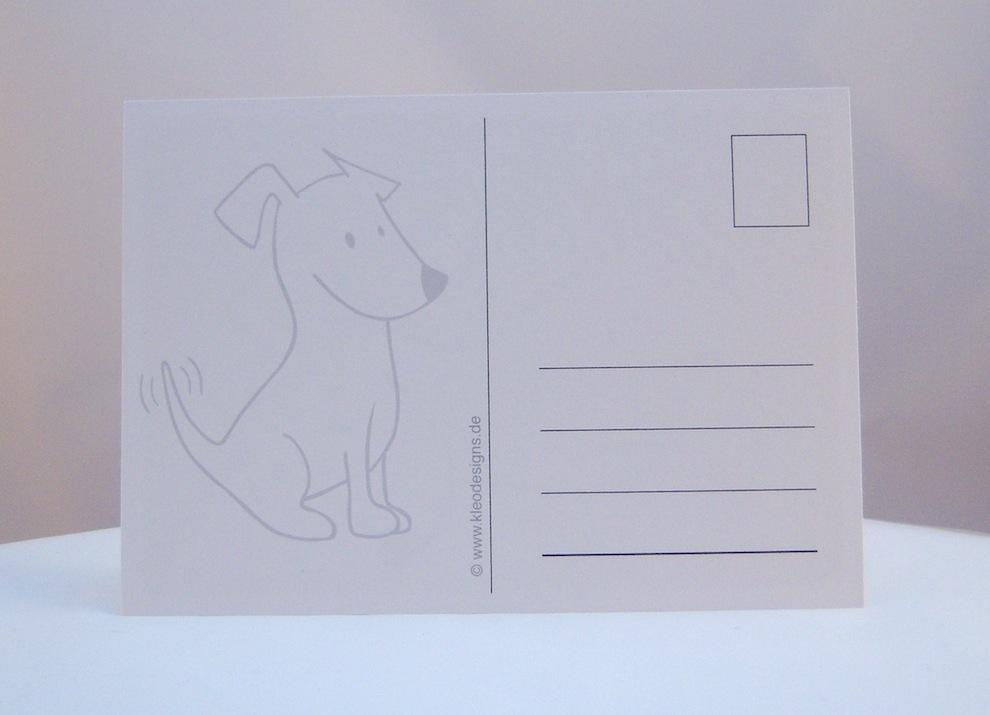 Postkarte frecher Terrier 2