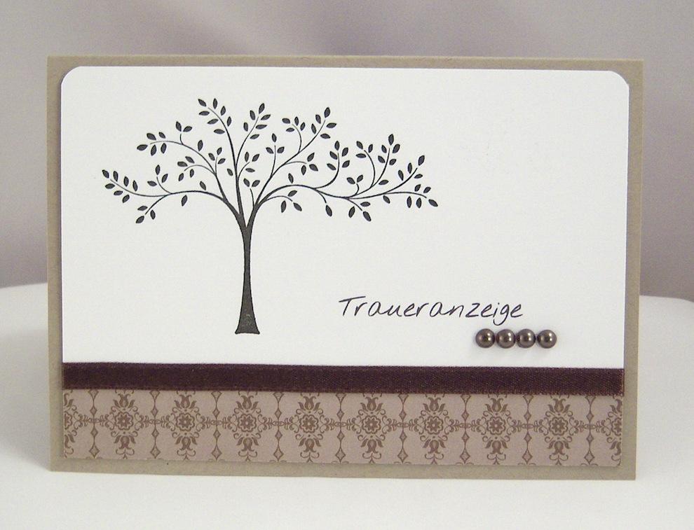 Trauer - Traueranzeige Baum