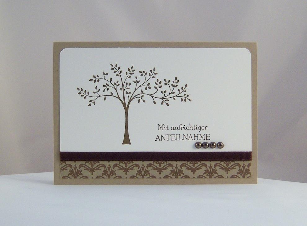Trauer - Trauerkarte Baum