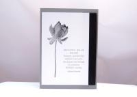Trauerkart Blume