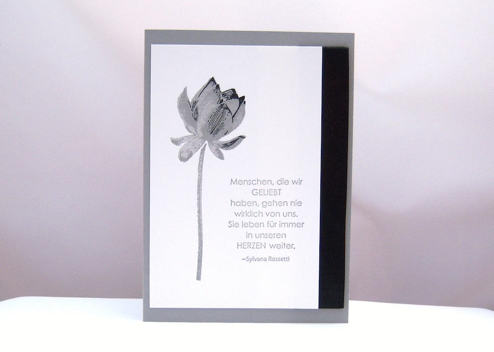 Trauer - Trauerkart Blume