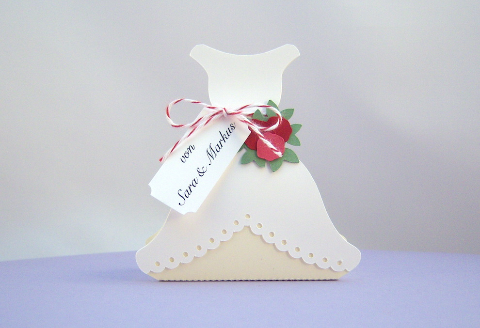 Hochzeit, Verpackungen - Verpackung Brautkleid individualisiert