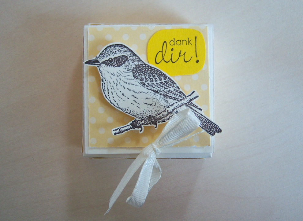 Sonstiges, Verpackungen - Verpackung RitterSportMini Danke Vogel 1