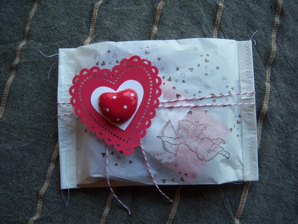 Valentinstag, Verpackungen - Verpackung zum Valentinstag Amor