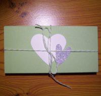 Verpackung zum Valentinstag grün 1